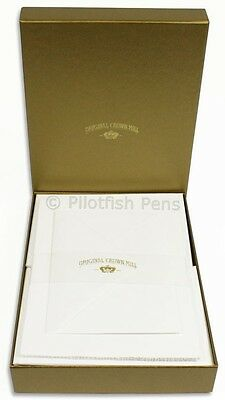 Crown Mill Luxury Letter Writing Paper Stationery Set A5 Sheets/Envelopes White