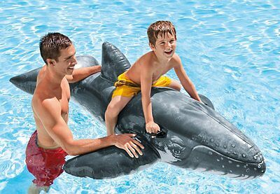 Intex Realistic Inflatable Whale Ride On Swimming Pool Beach Toy 2.01m x 1.35m