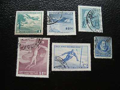 CHILI - timbre yt aerien n°131 163A 175 210 233 telegraphe 15 obl (A23) stamp