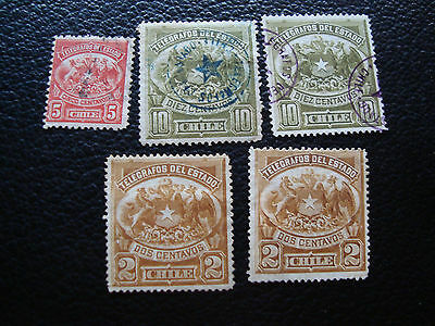 CHILI - 5 timbres telegraphes nsg ou obl (A23) stamp chile