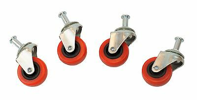 "2"" Swivel Ball Bearing Wheel for Creeper Caster Service Stool Cart Post Mount"