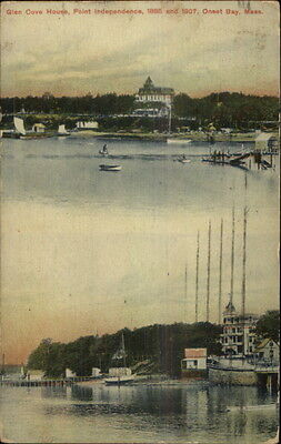 Onset Cape Cod MA Point Independence in 1885 & 1907 - Postcard