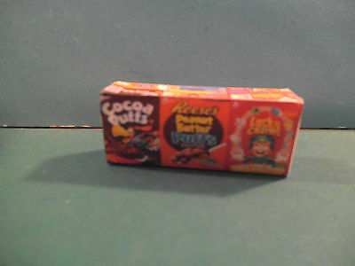 Barbie 1:6 Kitchen Food Miniature Handmade Box of Variety Cereal