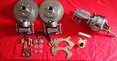 1965-1968 Ford Galaxie Front Disc Brake Conversion Chrome Booster And Master