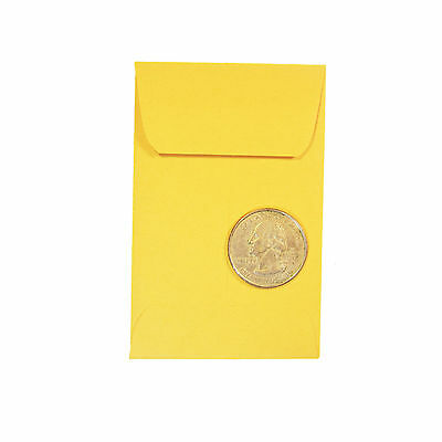 """New 50 Universal Kraft Coin Envelopes  #1 Size 2.25"""" By 3.5"""" With Gummed Flap"""