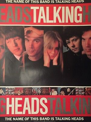 Talking Heads The Name Of This Band Is Rare Promo Poster 1982