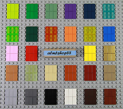 LEGO - 1x2 Tiles - PICK YOUR COLORS - Finishing Plate Smooth Flat Solid Lot Bulk