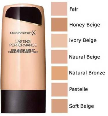 """Max Factor Face Make-up Foundation Lasting Performance """"Choose Your Shade"""""""