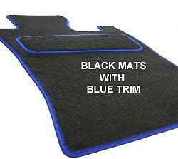 BRITISH LEYLAND Classic Mini fully fitted custom made tailored Black carpet blue