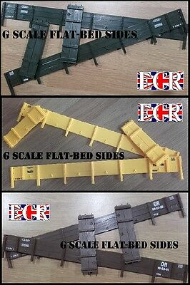 NEW G SCALE 45mm GAUGE 4 x TRUCK SIDES OF FLATBED FREIGHT GARDEN FLAT BED TRAIN