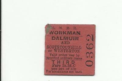 LNER ticket, Dalmuir to Scotstounhill or Westerton