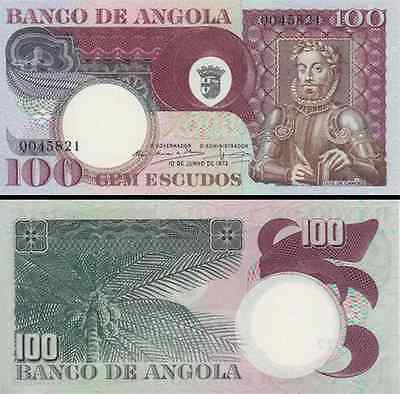 Angola Portugal 100 Escudos 1973 Unc P 160 Quarter Bundle (25 Notes)