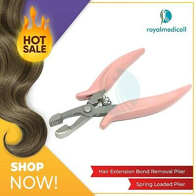 New Hair Extensions and Fusion Crushing Bond Removal Pliers Pink