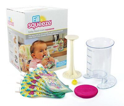 Baby Food Pouch Fill Station - Fill and Squeeze Starter Pack with 5 Pouches - or