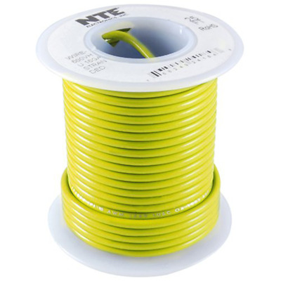 NTE WH26-04-25 Hook Up Wire 300V Stranded Type 26 AWG Yellow 25ft NEW!!!