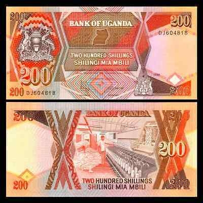 UGANDA 200 SHILLINGS 1997 P 32b UNC HALF BUNDLE (50 NOTES)