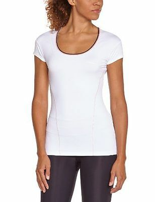 Lolë Cardio T-Shirt manches courtes femme Blanc FR : M Taille Fabricant NEUF