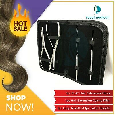 Micro Rings Hair Extension Pliers Pulling and Loop needles Tools Set