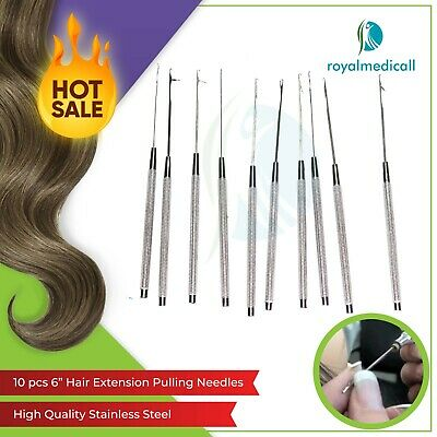 Feather Tools-Pulling needle,hair extension pro tools 10pcs BY MAQNSCO