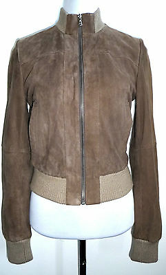 ZARA BASIC GR. S Lederjacke Leather jacket Suede Leder Jacke
