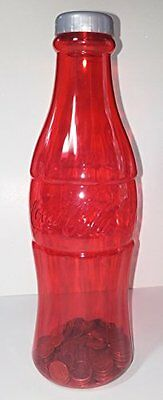 Coca-Cola Coke Red Bottle Coin Bank 11.75 In.