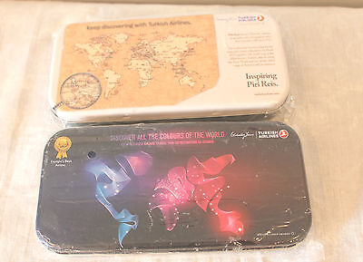 Turkish Airlines Travel Amenity Tin, Lot of 2-Sealed