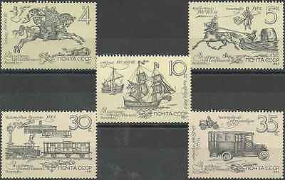 Timbres Transports URSS 5433/7 ** lot 11194