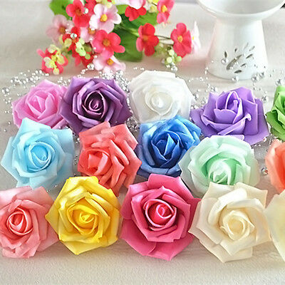 10pz Fiori Artificiali Rose Finte Decor Casa/Nozze/Festa DIY Artificial Flower