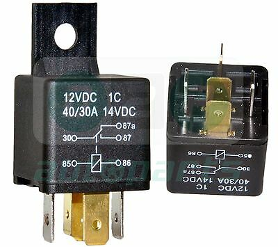 5 PIN 12V DC 40A/30A 5 Pin Relay/Switch for Automotive/Car/Bike/Boat