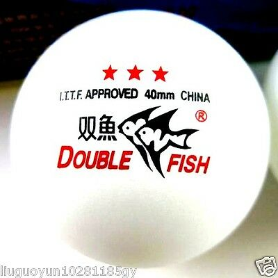 40 Boxes (120 Pcs) Double Fish 3 Stars 40MM Olympic Games White Ping Pong Balls