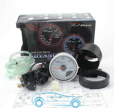 60Mm White Face Def1 Auto Turbo Boost Gauges Vehicle Inlet Pressure Map Meters