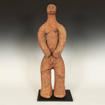 Antique Standing Figure Bankoni Terracotta Sikasso Mali West Africa 15Th C.