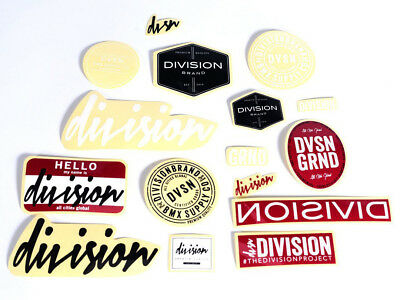 NEW Division Sticker Pack BMX Stickers