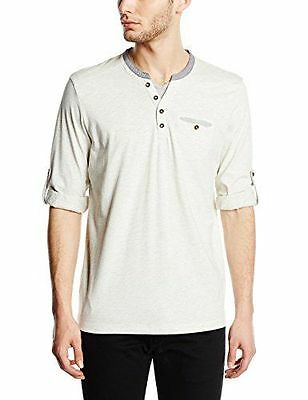 TOM TAILOR - T-shirt à manches longues - Manches longues Homme - Ecru  NEUF