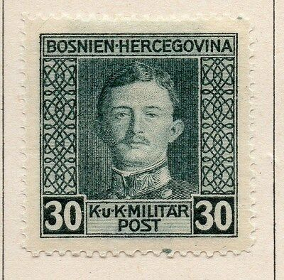 Bosnia Herzegovina 1917 Early Issue Fine Mint Hinged 30h. 047174