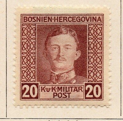 Bosnia Herzegovina 1917 Early Issue Fine Mint Hinged 20h. 047172