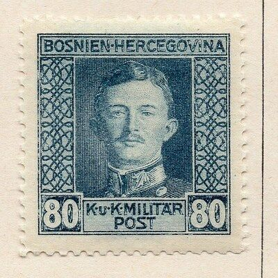 Bosnia Herzegovina 1917 Early Issue Fine Mint Hinged 80h. 047178