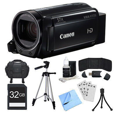 Canon VIXIA HF R700 Black Camcorder, 32GB Card, and Accessories Bundle