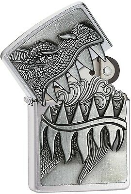 Zippo 2015 2016 Choice Catalog Dragon Teeth Brushed Chrome 28969 NEW