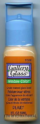 Plaid Gallery Glass Paint 17518 - 2 oz. Frost Sand ~ Create a Stained Glass Look