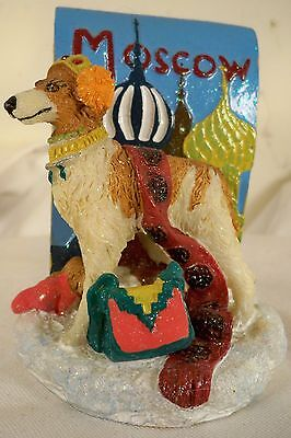 Dog Figurine-BORZOI-Moscow/VIP-Standing-2002-COLORFUL-WHIMSICAL-VERY CUTE!!