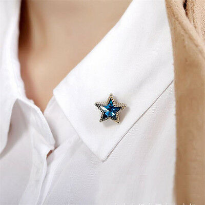 1pc Blouse Collar Accessories Star Lapel Pin Brooch Blouse Shirts Collar Clip