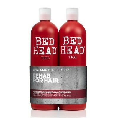 TIGI Bed Head Resurrection 750mL Duo Pack Shampoo & Conditioner Hair Haircare
