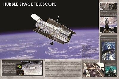 Hubble Space Telescope Poster (61X91Cm) Educational Chart New Wall Art
