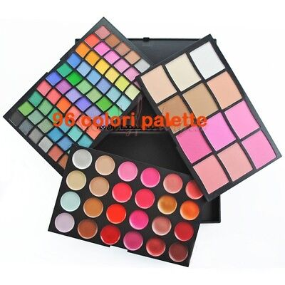 Palette 96 colori Ombretti Trucco Makeup eyeshadow/rossetti/concealer/blush