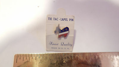 Vintage New Enamel Democrat Lapel Pin New On Card