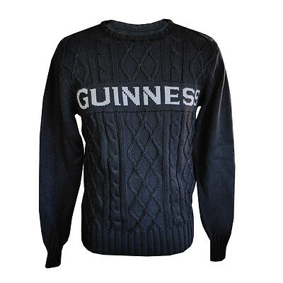 Guinness Official Merchandise Cable Jumper Black (S-XXL)