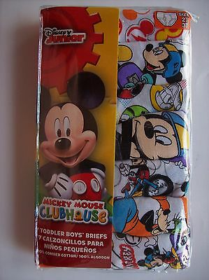 Mickey Mouse Clubhouse Underwear Underpants Boys 7 Briefs 2T/3Toddler   NIP