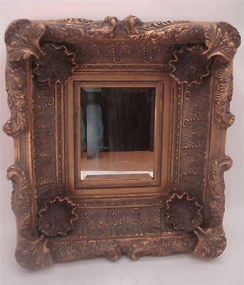 """Gilt Wood Mirror 21"""" X 19"""" Overall - 10"""" X 8"""" Aperture - Solid Wood - 10kg"""