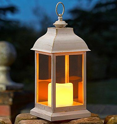 Smart Garden Cream Dorset Lantern Flickering Candle
